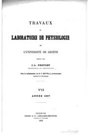 Travaux du Laboratoire de physiologie de l-Université de Genève