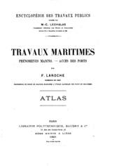 Travaux maritime. Phénomènes marins-accès des ports.: Phénomènes marins ...
