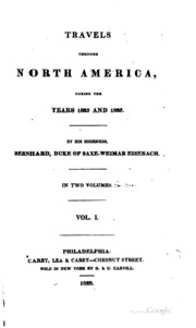 Travels through North America, during the years 1825 and 1826