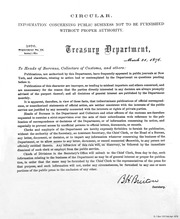 Circular. Information Concerning Public Business Not to Be Furnished Without Proper Authority