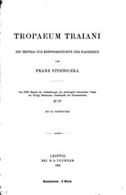 Tropaeum Traiani: Ein Beitrag zur Kunstgeschichte der Kaiserzeit