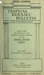 Tropical diseases bulletin, 15 Index