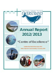 WC032 Overstrand Draft Annual report 2012-13 : Free ...