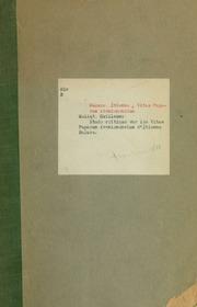 Étude critique sur les Vitae Paparum Avenionensium d-Étienne Baluze