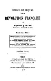Études et leçons sur la récolution française