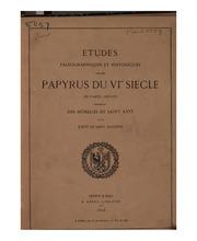 Études paleographiques et historiques sur des papyrus du VIme siècle