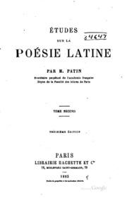 Vol 2: Études sur la poésie latine