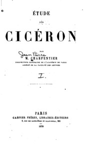 Étude sur Cicéron