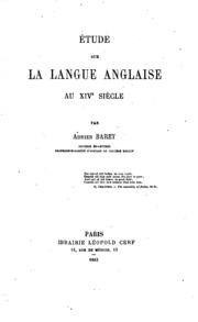 Étude sur la langue anglaise au XIVe siècle