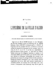 Étude sur l-hygiene de la ville d-Alger ...