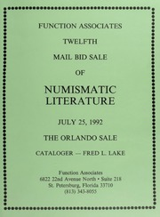 Twelfth Mail Bid Sale of Numismatic Literature