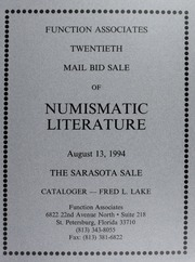 Twentieth Mail Bid Sale of Numismatic Literature