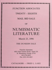 Twenty-Eighth Mail Bid Sale of Numismatic Literature