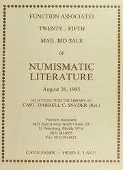 Twenty-Fifth Mail Bid Sale of Numismatic Literature