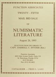 Twenty-Fifth Mail Bid Sale of Numismatic Literature