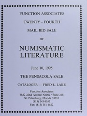 Twenty-Fourth Mail Bid Sale of Numismatic Literature