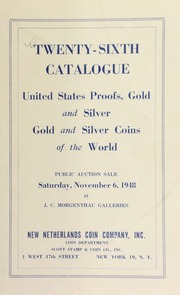 Twenty-sixth catalogue : United States proofs, gold and silver, gold and silver coins of the world. [11/06/1948]