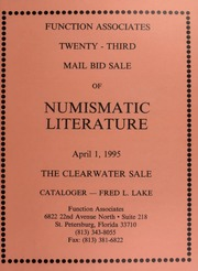 Twenty-Third Mail Bid Sale of Numismatic Literature