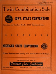 Twin combination sale : Iowa state convention ... : Michigan state convention ... [10/13-14/1956-11/16-18/1956]