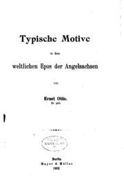 Typische Motive in den weltlichen Epos der Angel-sachsen