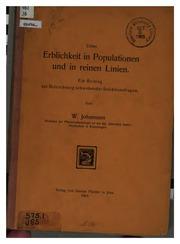 Ueber Erblichkeit in Populationen und in reinen Linien: Ein Beitrag zur Beleuchtung schwebender ...