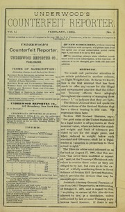 Underwood's Counterfeit Reporter
