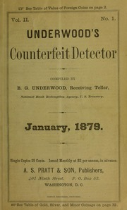 Underwood's Counterfeit Detector