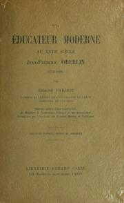 Un éducateur moderne au XVIIIe siécle, Jean-Frédéric Oberlin 1740-1826
