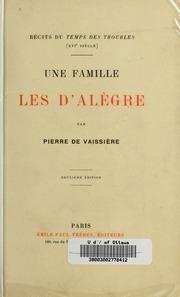 Une Famille : les D-Alègre
