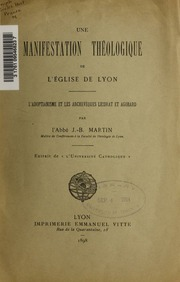 Une manifestation théologique de l-Église de Lyon
