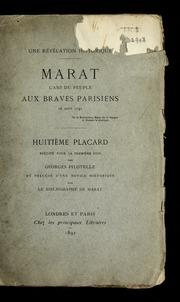 Une révélation historique : Marat, l-ami du peuple, aux braves Parisiens, 26 août 1792. Huitième placard