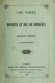 Une visite à Monsieur le duc de Bordeaux