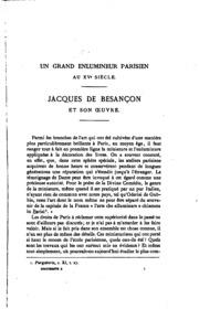 Un grand enlumineur parisien au XVe siècle; Jacques de Besançon, et son œuvre