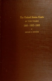 The United States cents of the years 1801-1802-1803