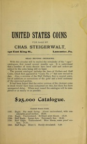 United States Coins for sale by Charles Steigerwalt, No. 61A
