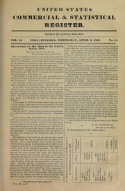 United States Commerical and Statistical Register, vol. 2, no. 14