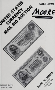 United States Currency Mail Bid Auction: Sale #29