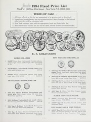 United States Gold Coins and Numismatic Literature Fixed Price List