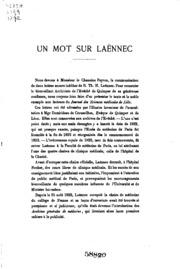 Un Mot sur Laennec
