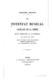 Un potentat musical, Papillon de La Ferté; son règne à l-Opéra de 1780 à 1790