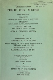 Unrestricted public coin auction. [05/20-22/1954]