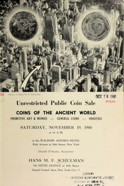 Unrestricted public coin sale : coins of the ancient world ... [11/19/1960]