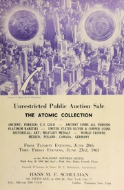 Unrestricted public auction sale : the Atomic collection et al ... [06/20-23/1961]