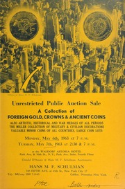 Unrestricted public auction sale : a collection of foreign gold, crowns & ancient coins ... [05/06-07/1963]