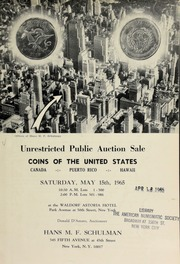 Unrestricted public auction sale : coins of the United States ... [05/15/1965]