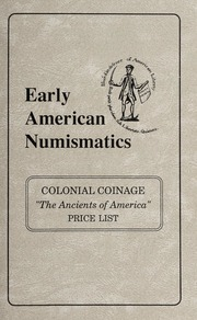 Colonial Coinage: The Ancients of America Price List
