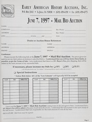 Mail Bid Auction: June 7, 1997 - Autographs, Coins, Currency, Americana