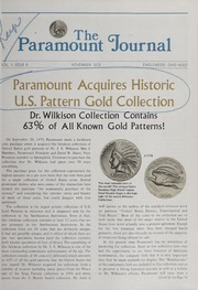 The Paramount Journal: Vol. 1 Issue 6, November 1973