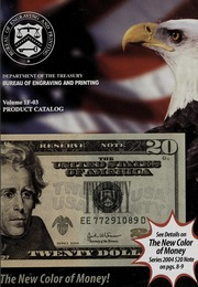 The New Color of Money! Volume 1F-03 Product Catalog