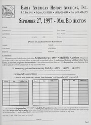 Mail Bid Auction: September 27, 1997 - Autographs, Coins, Currency, Americana